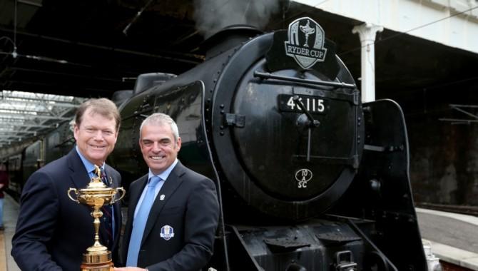Paul Mc Ginley y Tom Watson se reunieron en la cuna del golf para hablar de la Ryder Cup 2014 de Gleneagles, en Escocia