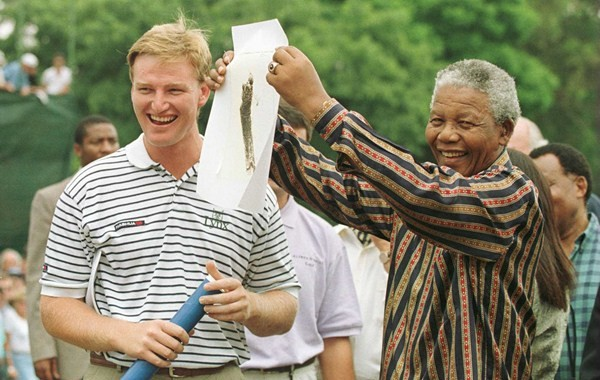 Ernie Els recordó a Nelson Mandela en Sun City