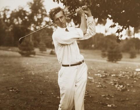 """Jim Barnes -""""Long John""""- primer ganador del PGA Championship, en 1916"""