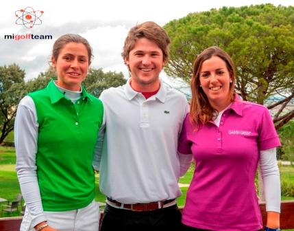 Mireia Prat, Virginia Espejo y Juan Sarasti presentaron en Madrid MiGolTeam, un nueva fórmula de patrocinio