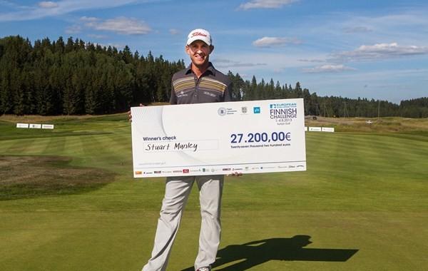 Stuart Manley (-21) ganador del Finnish Challenge, donde los españoles tuvieron una mediocre actuación