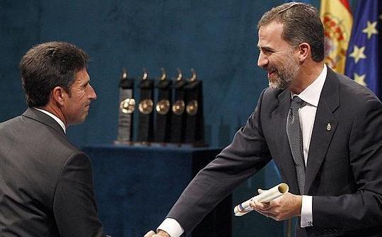 José María Olazábal recibe en Oviedo el Premio Príncipe de Asturias de los Deportes, con un recuerdo especial para Seve