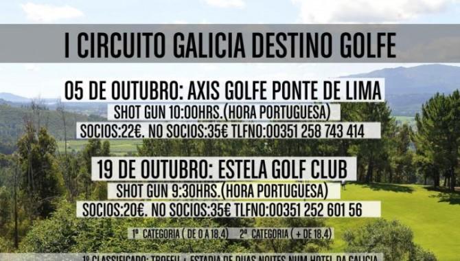 Se celebró el I Torneo del Circuito de Galicia Destino Golf en el campo portugués Axis Golfe Ponte de Lima