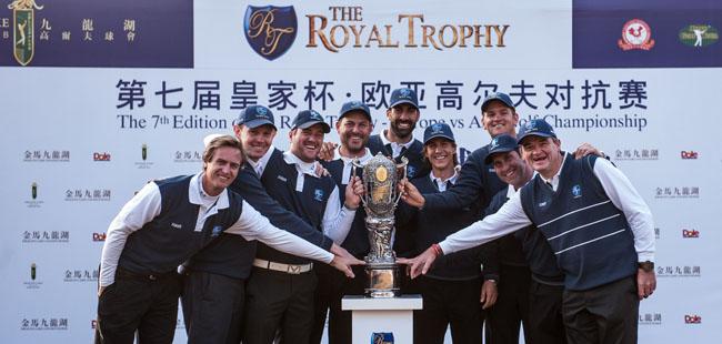 "Chema Olazábal repitió el ""milagro de Medinah"" en China. Europa ganó (8.5 & 7.5) a Asia y recuperó el Royal Trophy"