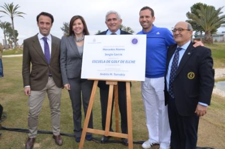 Elche inaugura su Escuela de Golf, con Sergio García como testigo