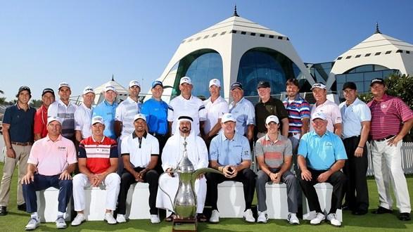 Cabrera y Stenson (-6), ganadores del Desafío de Campeones en el XXV aniversario del Omega Dubai Desert Classic.