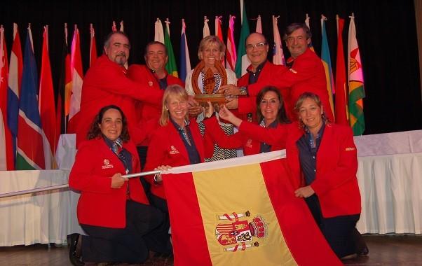 España recibe el premio a la Deportividad en la Final del Campeonato del Mundo Amateur (WGC), en Durban, Sudáfrica