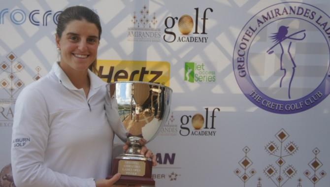 Patricia Sanz logró su tarjeta para el LET 2014 al ganar en Creta