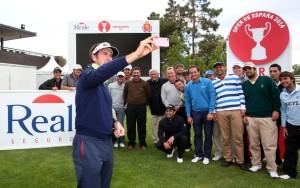 gonzalo y españoles en el Open de España 14 (selfie)