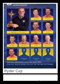 Ryder Cup team europa 14